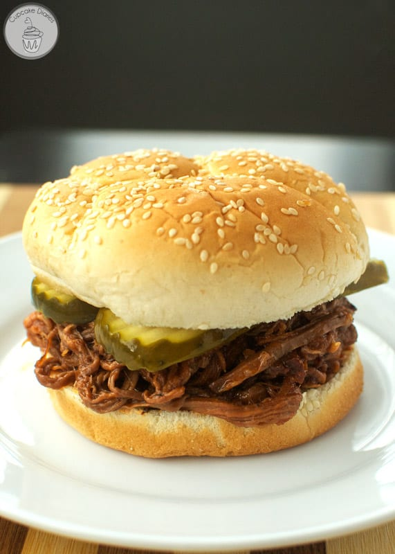 Crock Pot Pulled Barbecue Beef Sandwiches