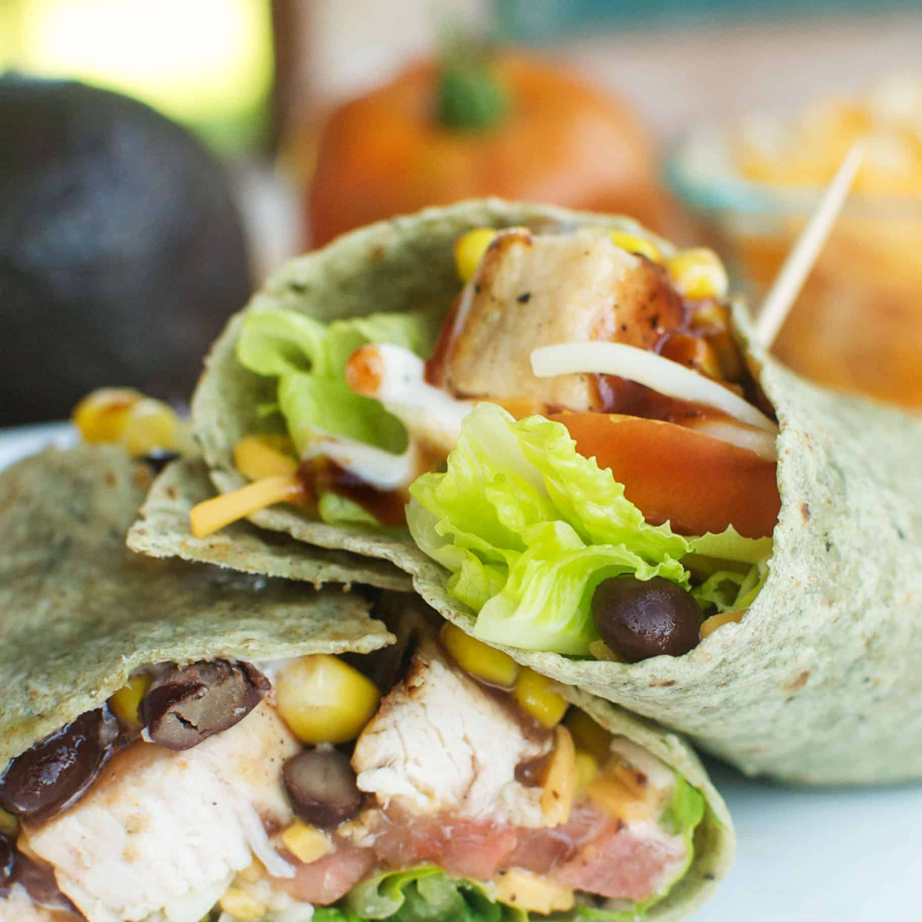 Whether you're looking for a quick lunch or don't want to heat up the house for dinner, BBQ Chicken Wraps are a perfectly tasty and easy option!