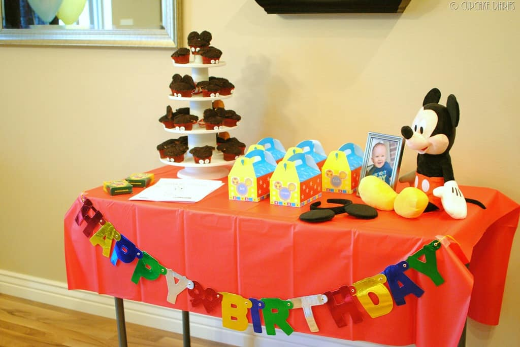 First Birthday Mickey Mouse Clubhouse Party Cupcake