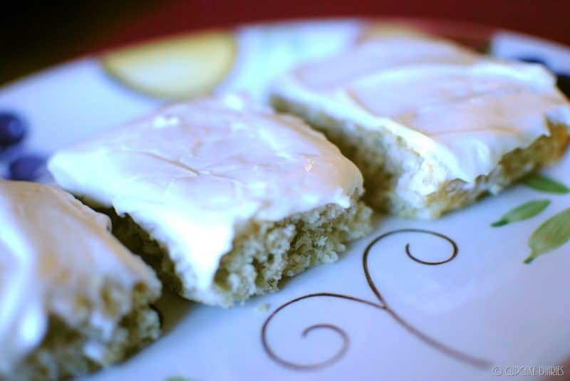 If you like banana bread, you're going to love these Banana Bars! They're perfectly cakey and topped with a decadent cream cheese frosting.