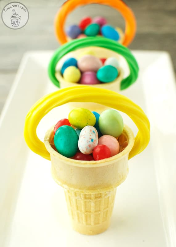 Ice Cream Cone Easter Baskets are perfect for an Easter party or as place settings for Easter dinner!