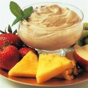 Cream Cheese and Toffee Fruit Dip