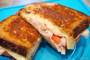 Grilled Turkey and Swiss Sandwiches