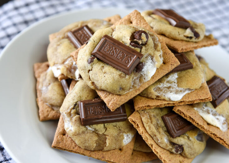 Summer's favorite dessert made into a chewy and delicious cookie! S'more Cookies are a great way to enjoy that campfire treat all year round!