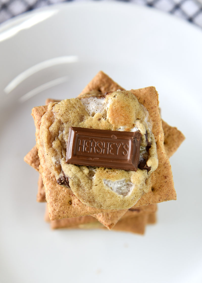 S'more Cookies - A s'more dessert without the campfire that you can eat all year!