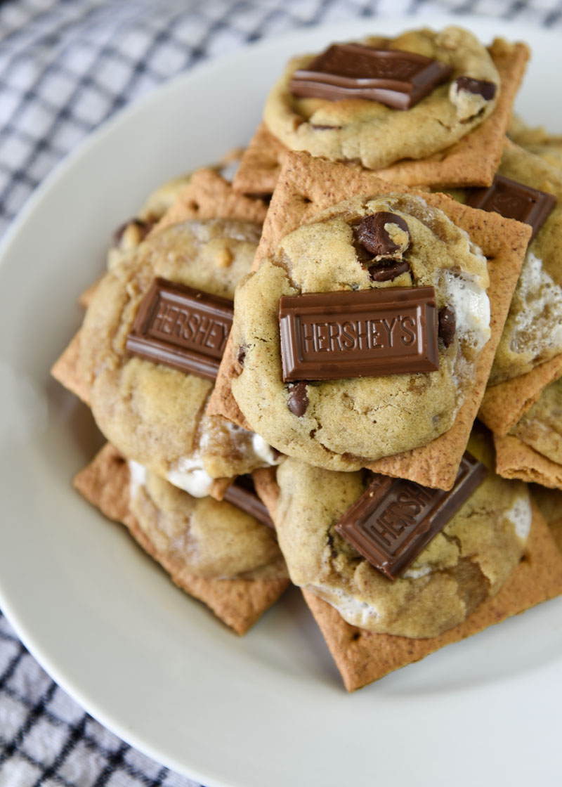If you love s'mores, you need to try S'more Cookies! They're baked right on top of a graham cracker!