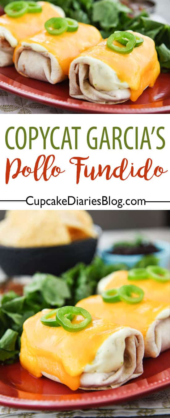 A Mexican restaurant favorite that tastes just like the original! Copycat Garcia's Pollo Fundido is so easy to make and a meal the whole family will love.