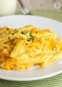 World's Best Mac and Cheese - Penne pasta combined with a delectable creamy cheese sauce and topped with a crunchy topping. This is the BEST mac and cheese!