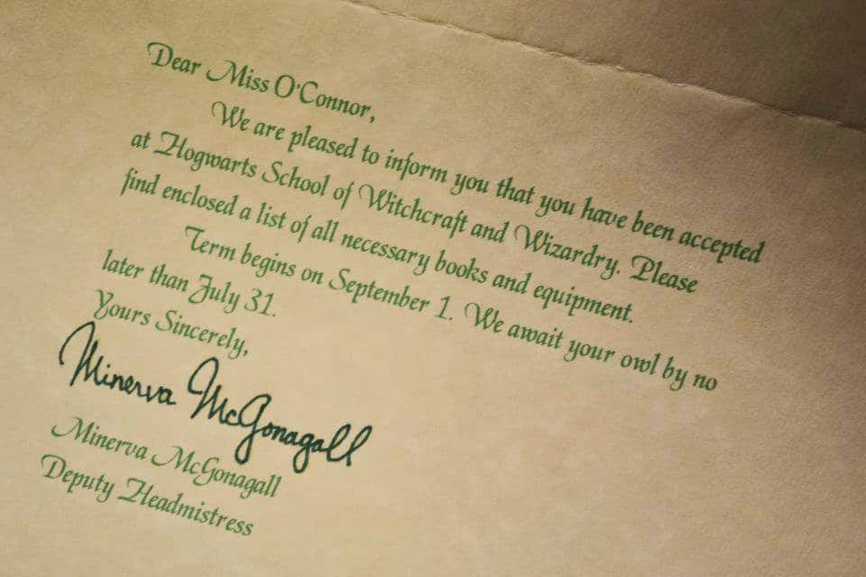 Letters From Santa & Hogwarts Acceptance Letters + Giveaway