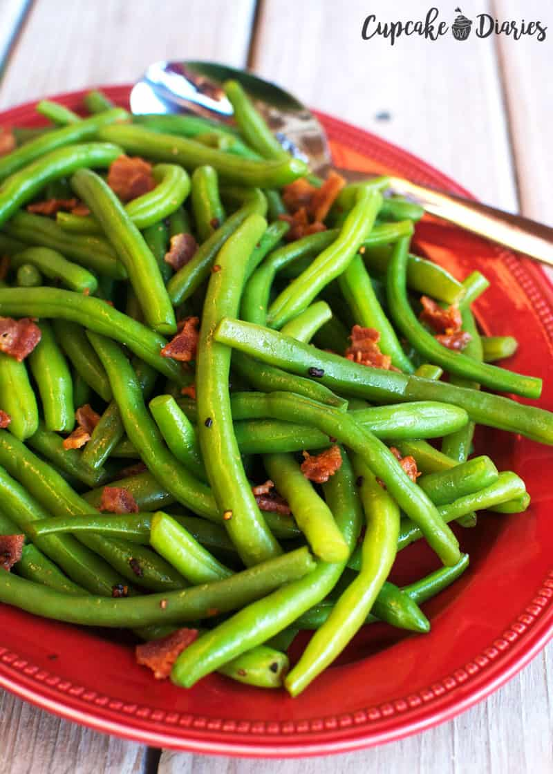 Green Beans and Bacon - A great side dish for summertime or even Thanksgiving!
