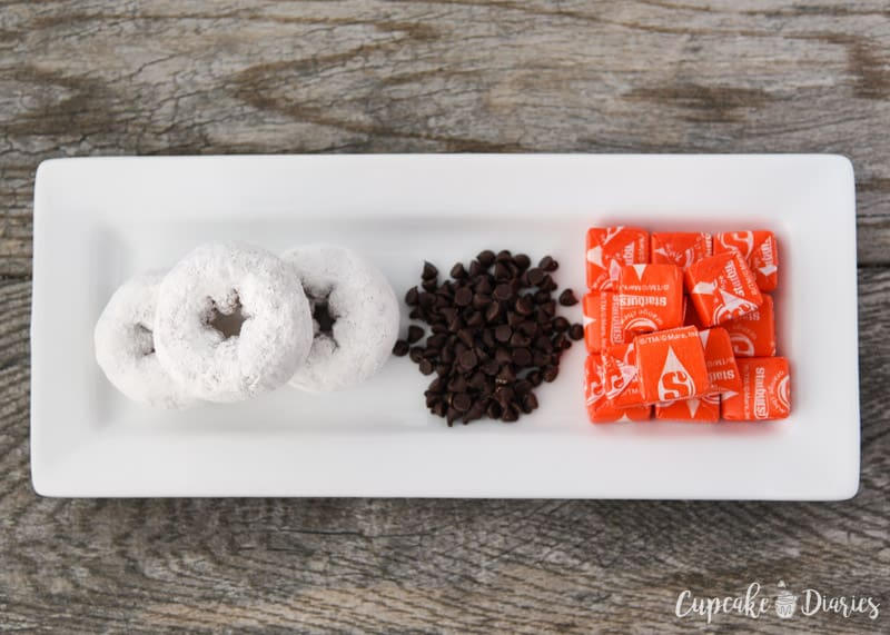 Snowman Donuts Ingredients
