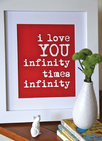 """I Love You Infinity Times Infinity"" Print"
