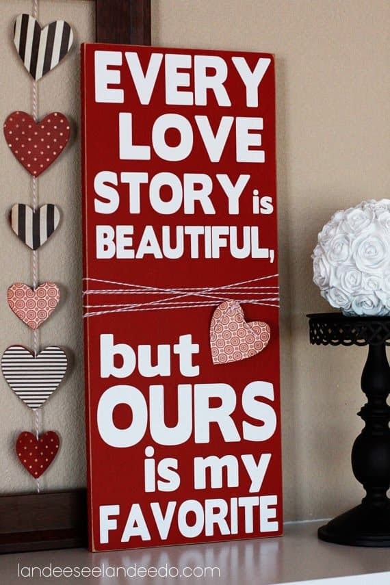 Love Story Saying Vinyl Lettering on Etsy