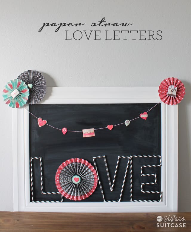 Paper Straw Love Letters