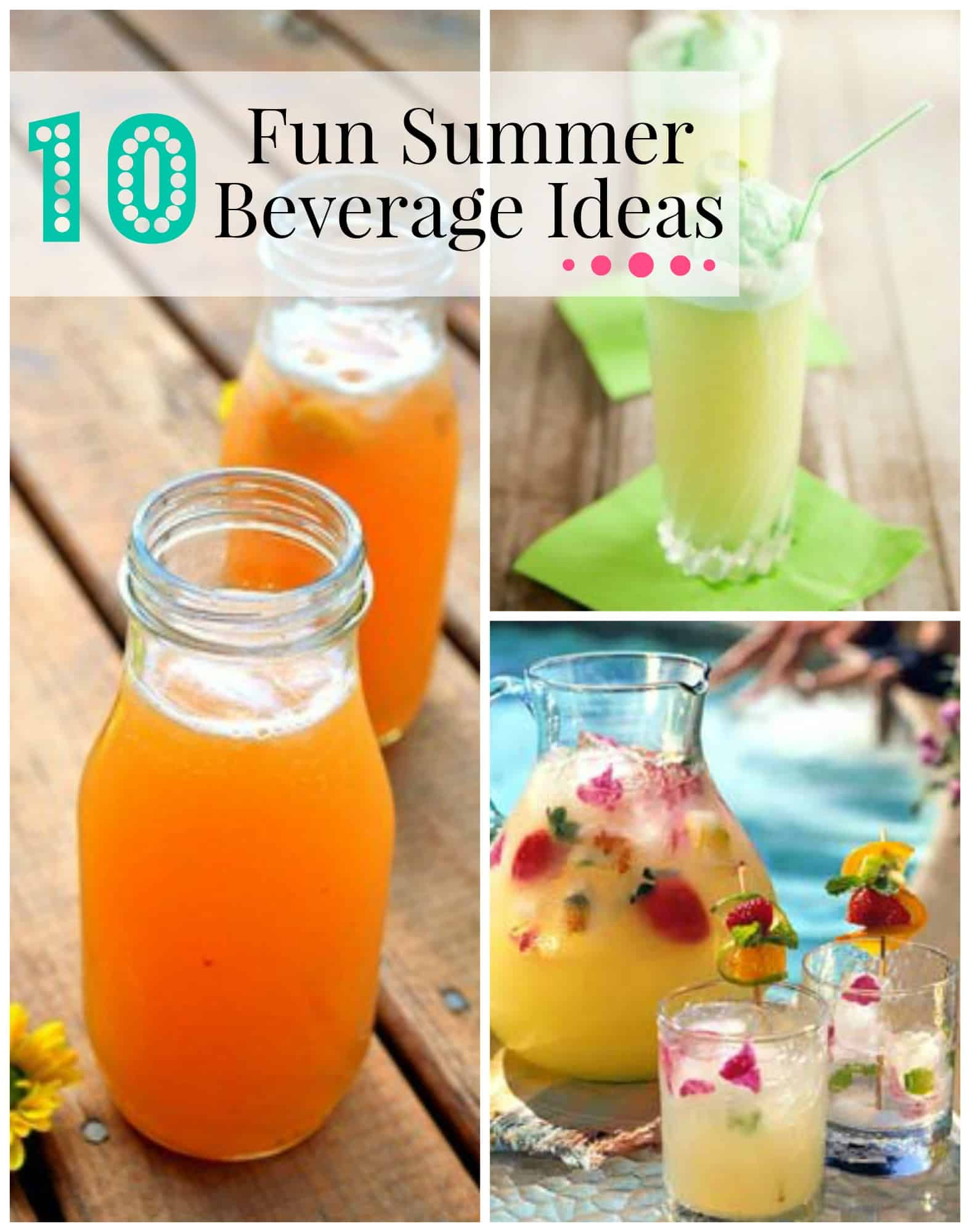 10 fun summer beverage ideas cupcake diaries