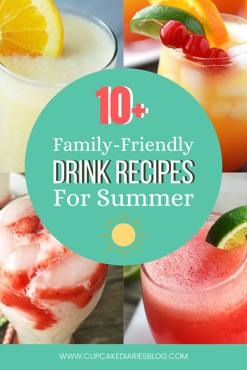 Refreshing summer drink recipes for the whole family! Over 10 recipes for sipping in the sun.