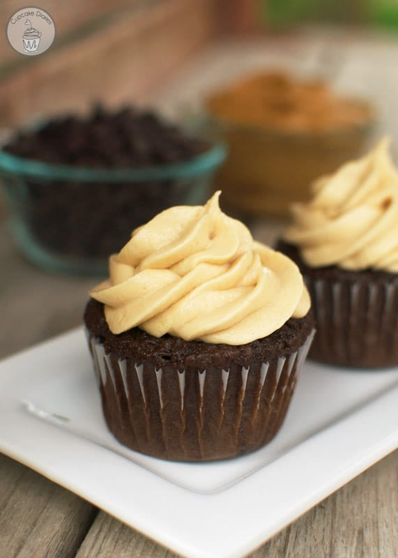 Chocolate Cupcakes With Peanut Butter Cookie Frosting Recipe ...