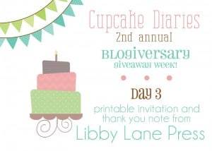{Blogiversary Week} Day 3: Libby Lane Press GIVEAWAY!
