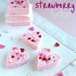 Two Ingredient Strawberry Fudge