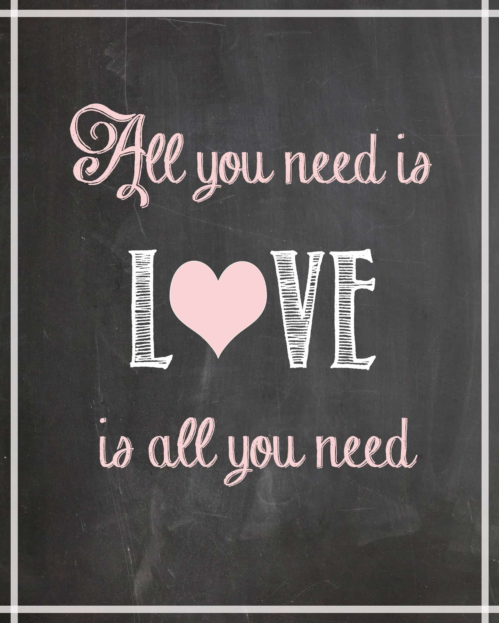 All You Need Is Love Free Printable Cupcake Diaries