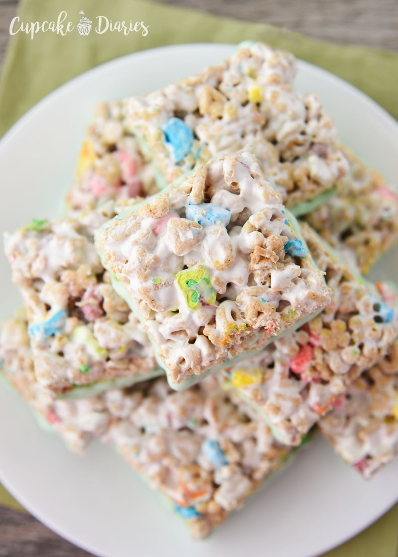 Lucky Charms Treats - Great for St. Patrick's Day and so easy to make!