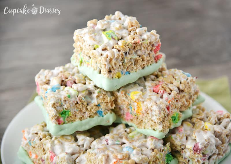Lucky Charms Treats make the perfect treat for the whole family for St. Patrick's Day!