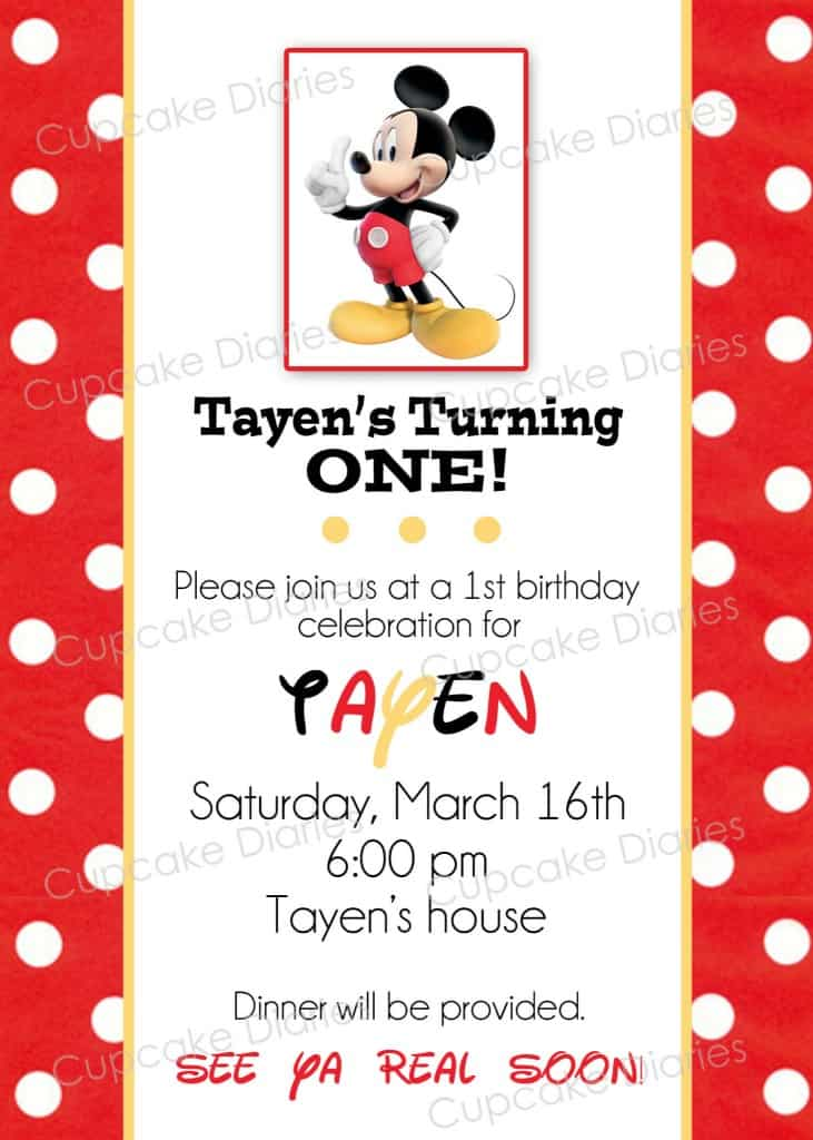 Simple Mickey Mouse Birthday Party Free Subway Art