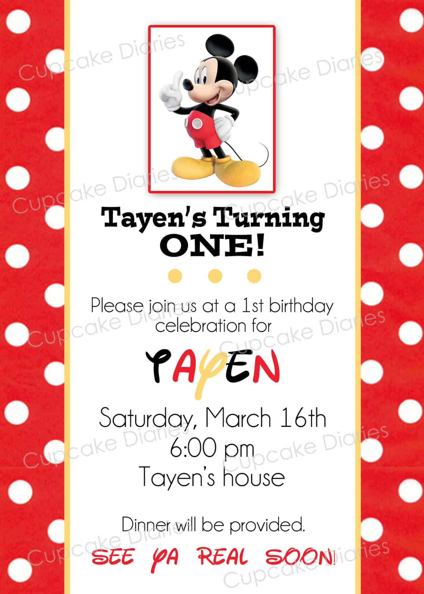 simple mickey mouse birthday party free subway art printable cupcake diaries