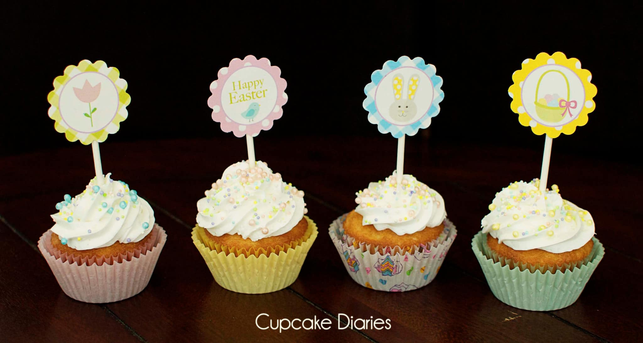 Free Easter Cupcake Toppers Printable on Pinterest Decorating Ideas Dr Seuss