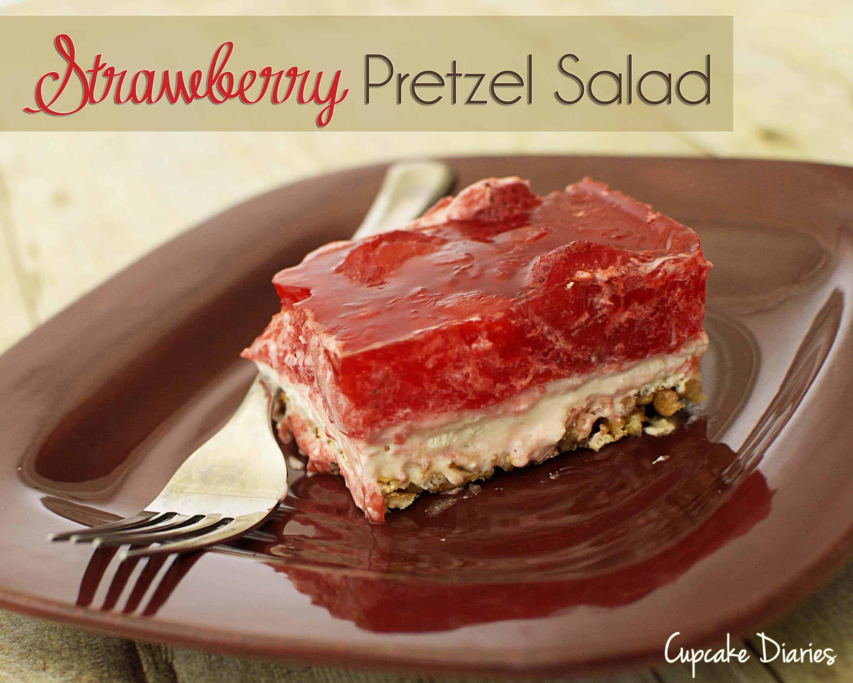 Strawberry Pretzel Salad - Cupcake Diaries