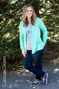 What I Wore: Spearmint and Print + Owl Necklace GIVEAWAY!