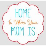 """Home Is Where Your Mom Is"" FREE Printable {4 Colors}"