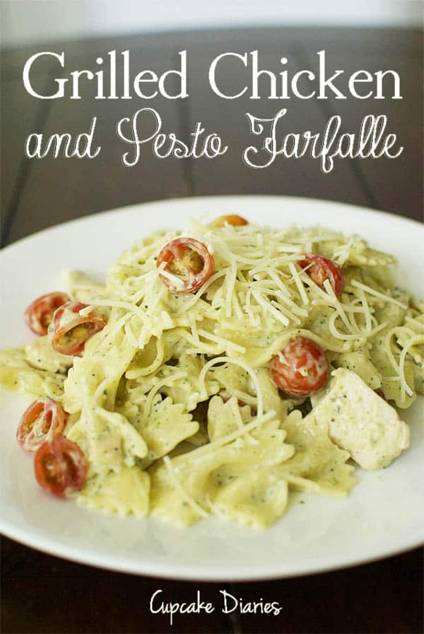 Grilled Chicken Pesto Farfalle