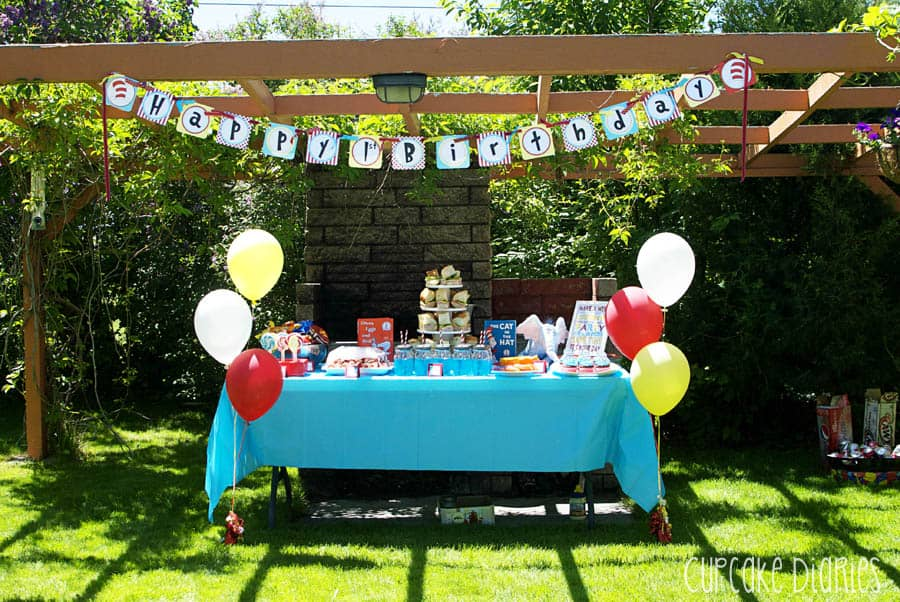 Dr seuss 1st birthday party for B day decoration ideas