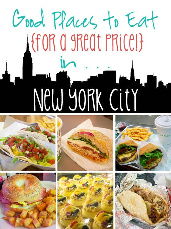 Good Places to Eat for a Great Price in New York City