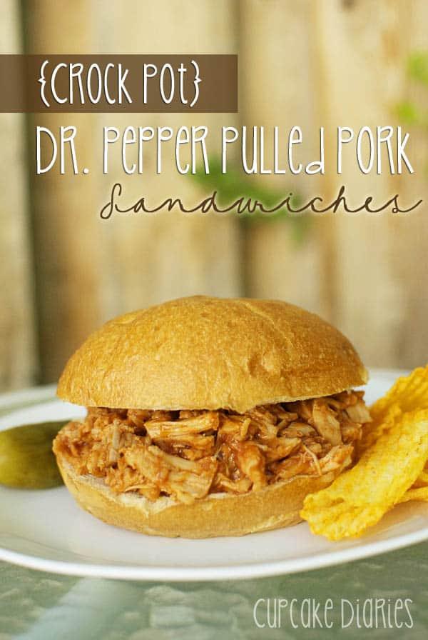 Crock Pot} Dr. Pepper Pulled Pork Sandwiches - Cupcake Diaries