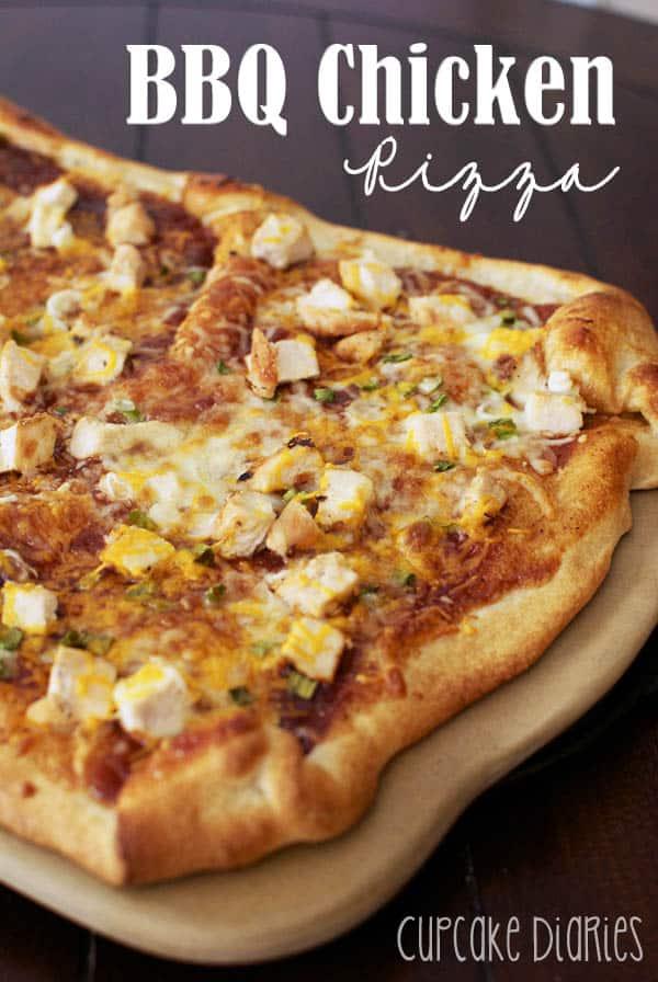 BBQ Chicken Pizza - Cupcake Diaries