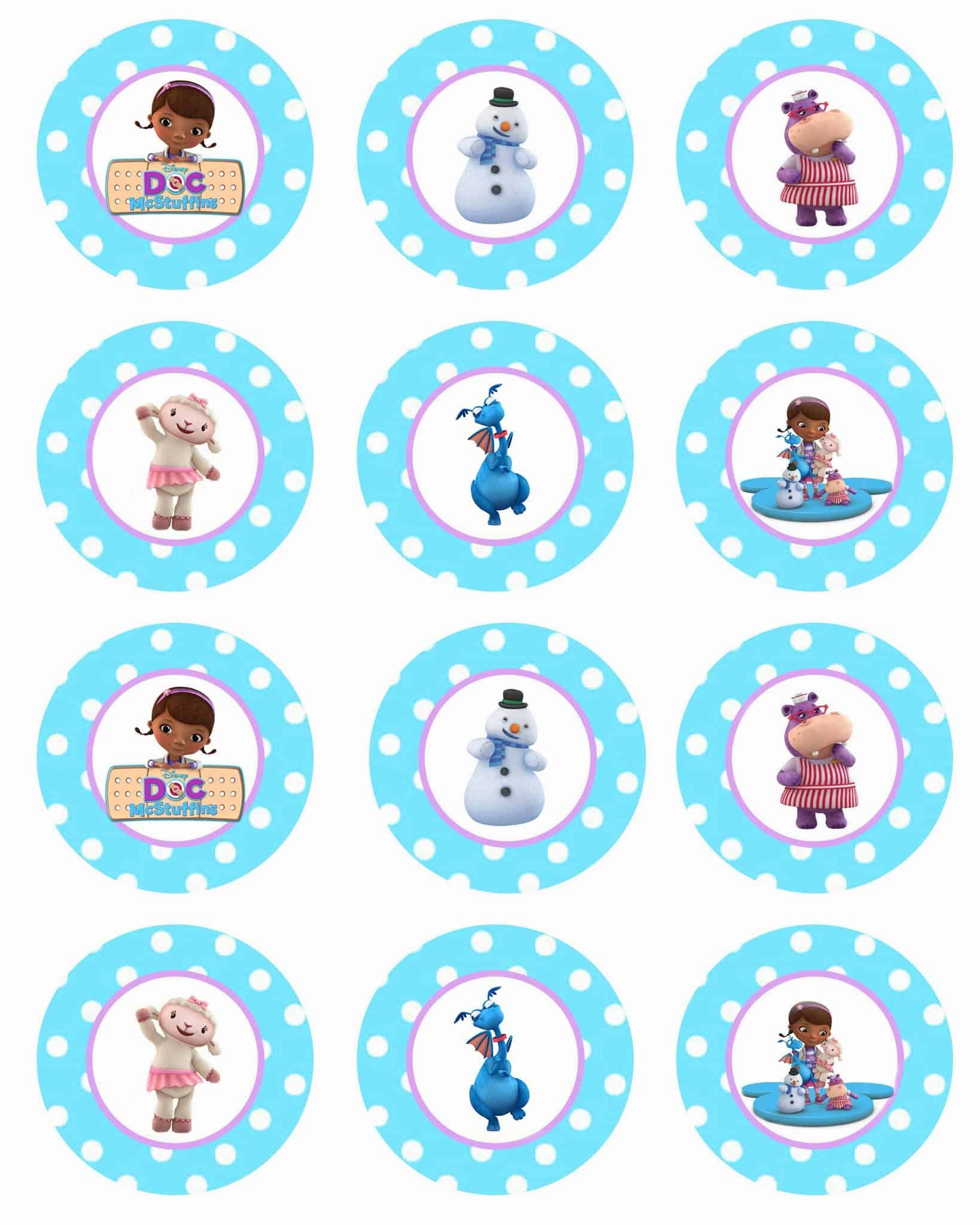 Free Printable Images Of Cupcakes : Doc McStuffins Cupcakes and GIVEAWAY! - Cupcake Diaries