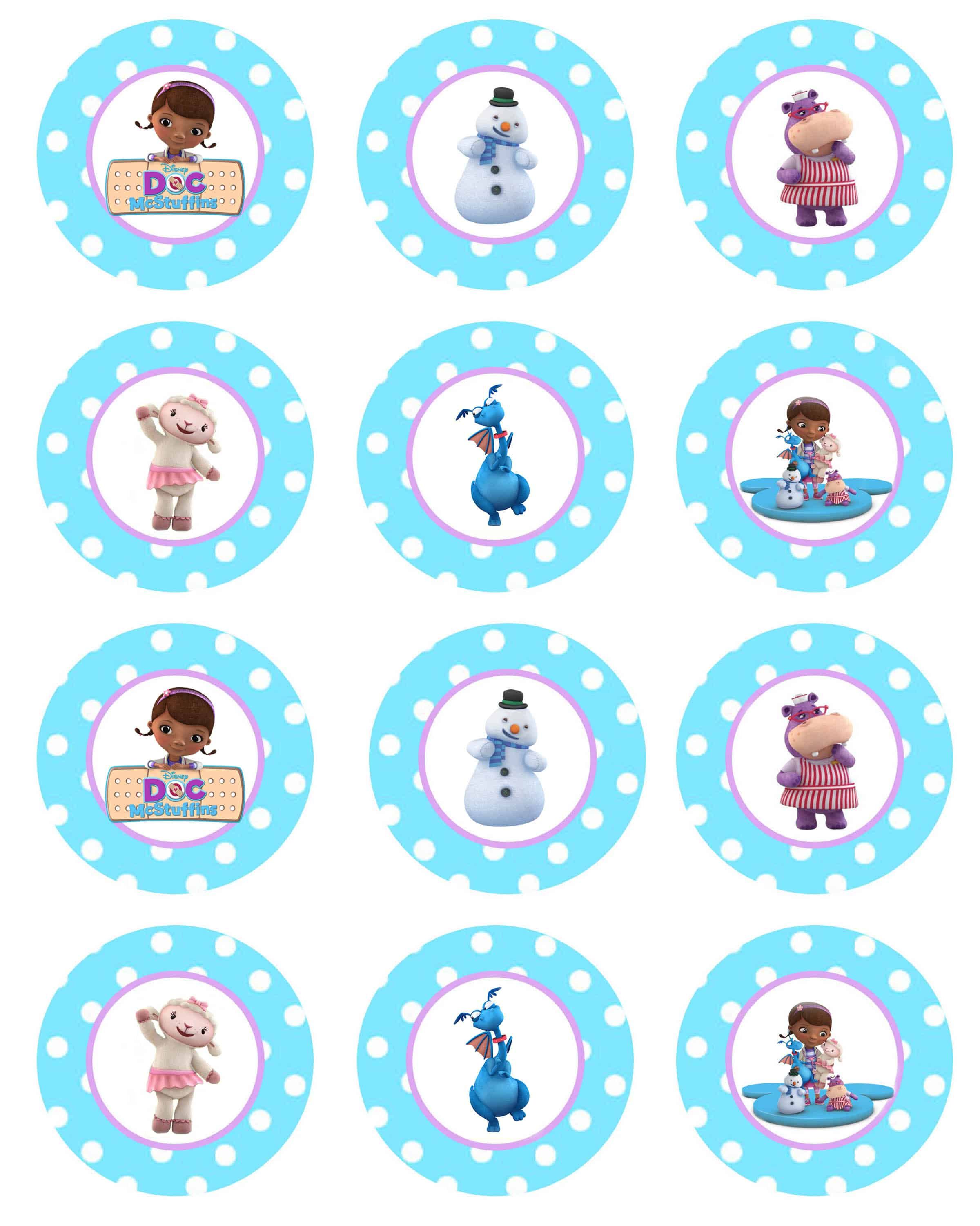 Cupcake Toppers : Doc McStuffins Cupcakes and GIVEAWAY! - Cupcake Diaries