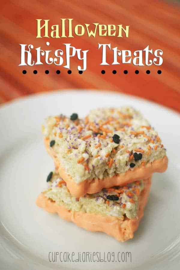 Halloween Krispy Treats Cupcake Diaries
