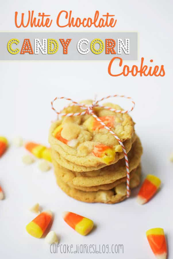 White Chocolate Candy Corn Cookies for fall baking!
