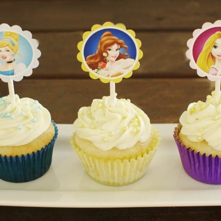 Disney Princess Cupcakes and GIVEAWAY!