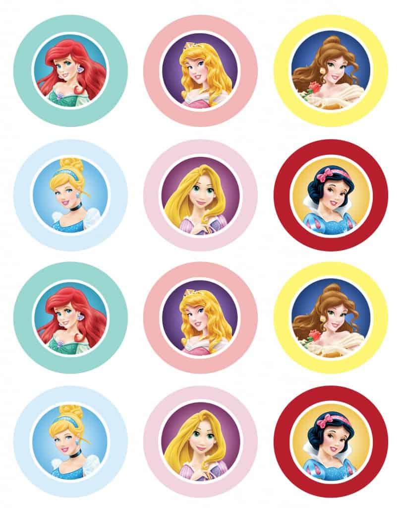 Disney_Princess_Cupcake Toppers