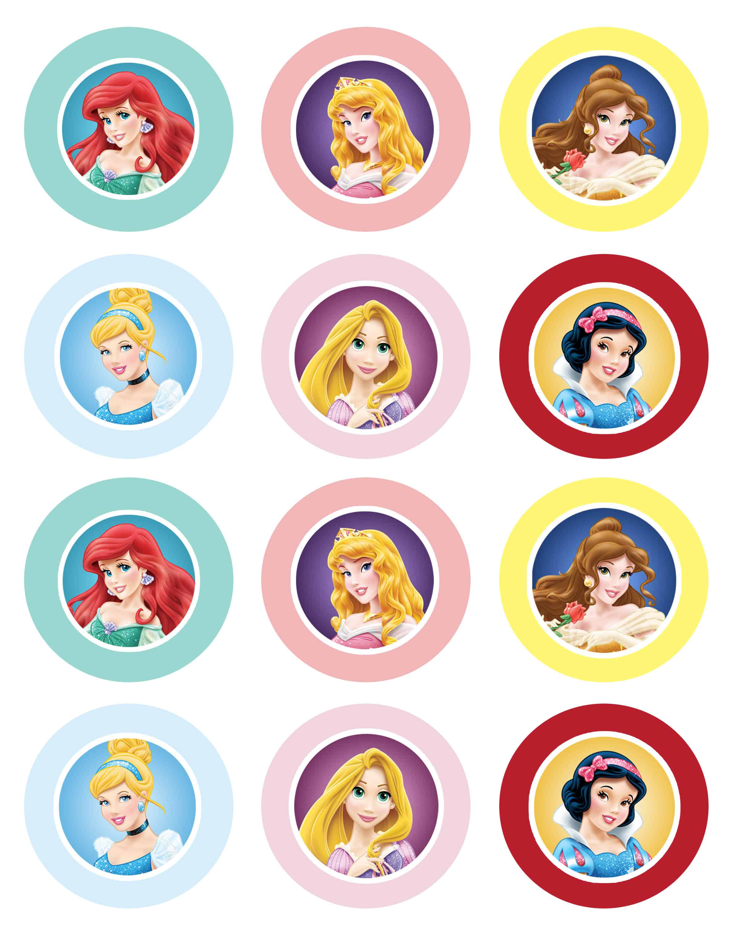 Cupcake Toppers : Disney Princess Cupcakes and GIVEAWAY! - Cupcake Diaries