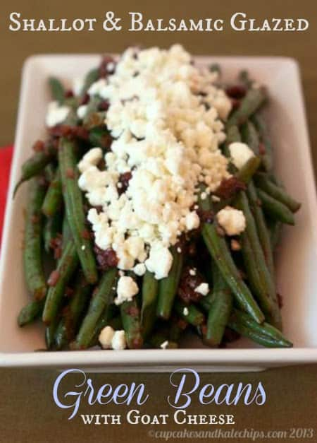 Balsamic Glazed Green Beans with Goat Cheese