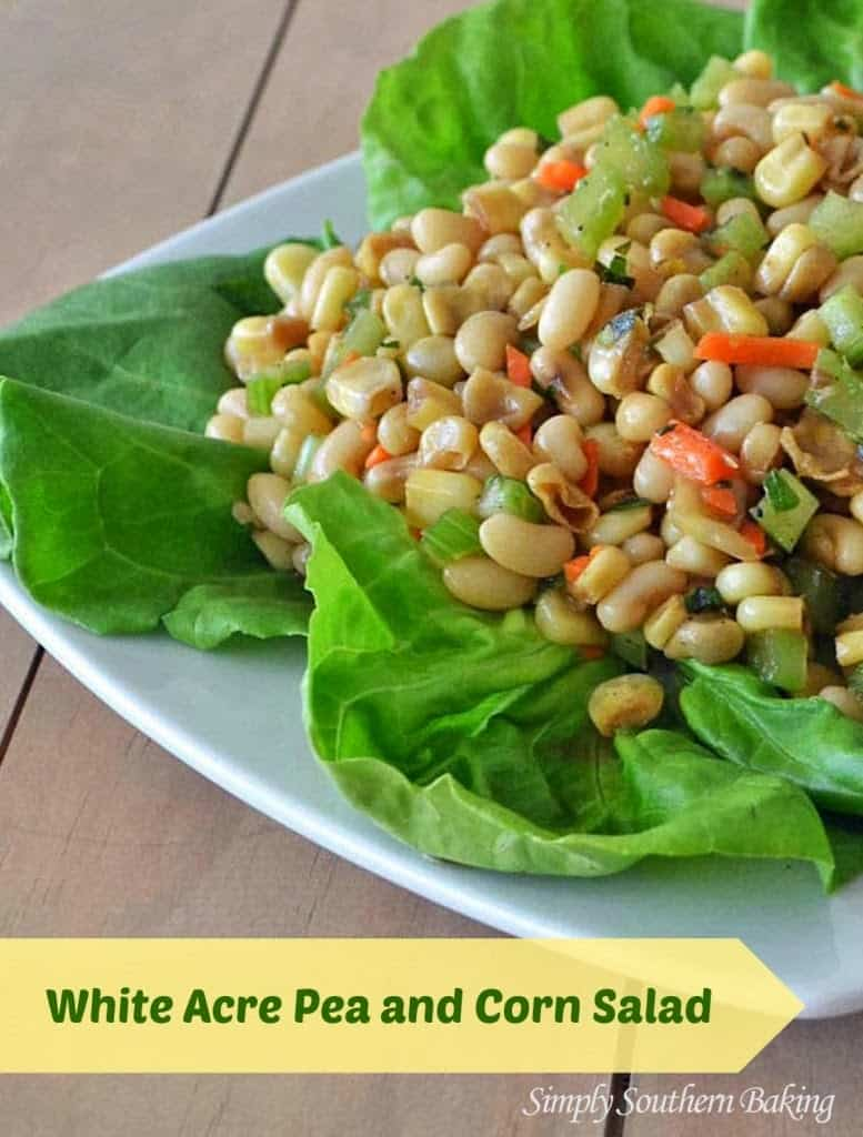 White Acre Pea and Corn Salad