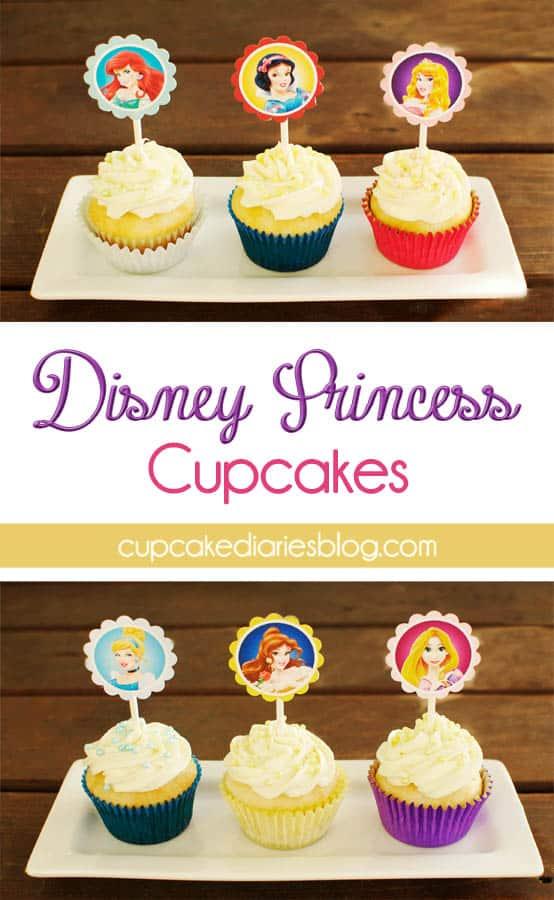 photograph regarding Disney Princess Cupcake Toppers Free Printable identify Disney Princess Cupcakes and GIVEAWAY! - Cupcake Diaries