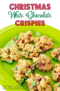 Christmas White Chocolate Crispies