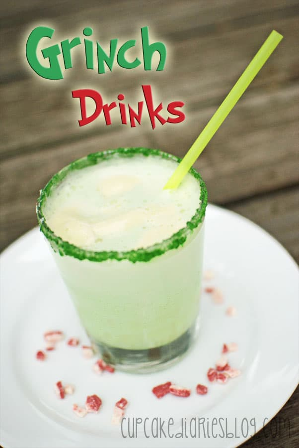Grinch Drinks - Cupcake Diaries