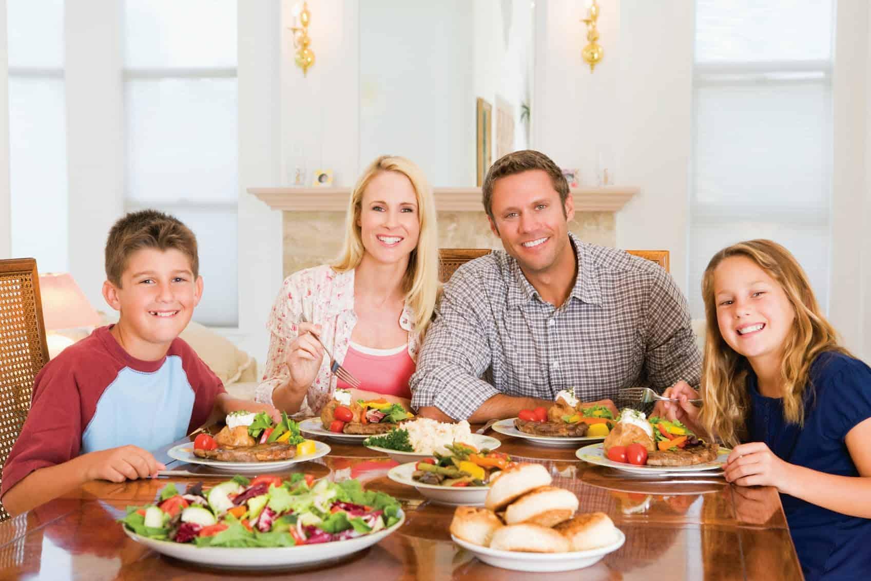 Простой ужин для всей семьи фото